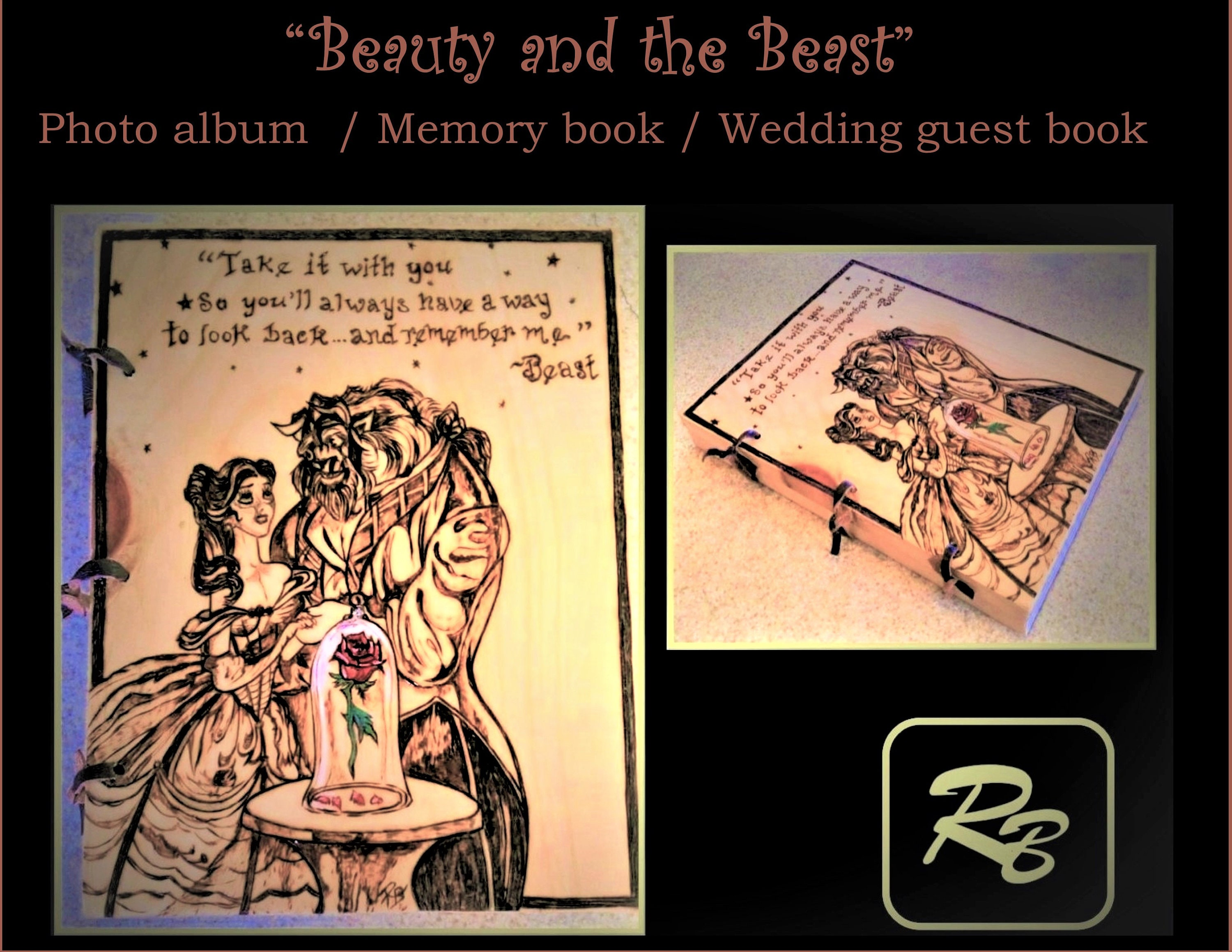 beauty and the beast - gift ideas - photo album,memory book, journal