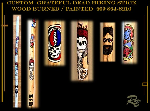 Retiement gift, ideas, Grateful dead, gift,hiking stick, walking stick,,hiker, hiking,hikers gift,walking stick