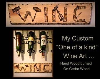 Wine lovers gift, wine art wine decor , wine lover , wine , wine gift, boss gift, husband gift, wife gift,hostess gift