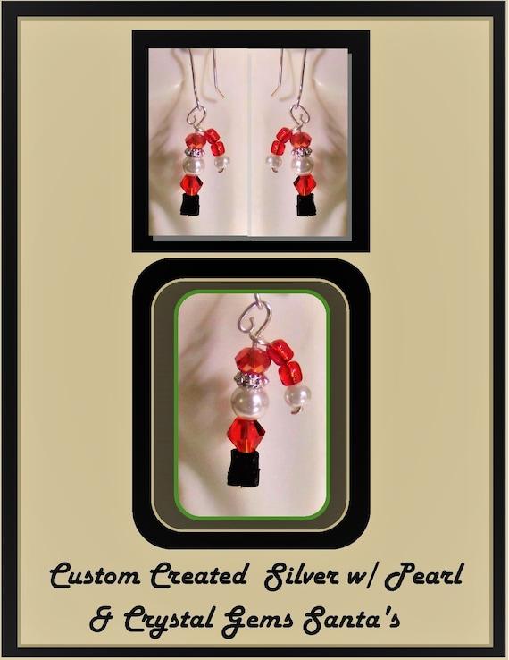 Christmas Jewelry,Holiday Fashion,FUN,Christmas Earrings,Holiday jewelry,christmas gift ideas,holly,wreath,Santa jewelry,,candy cane jewelry