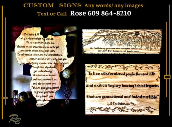 custom signs, sign, custom, wood,  personalized, gift, ANY Words, Artistic Creations by Rose