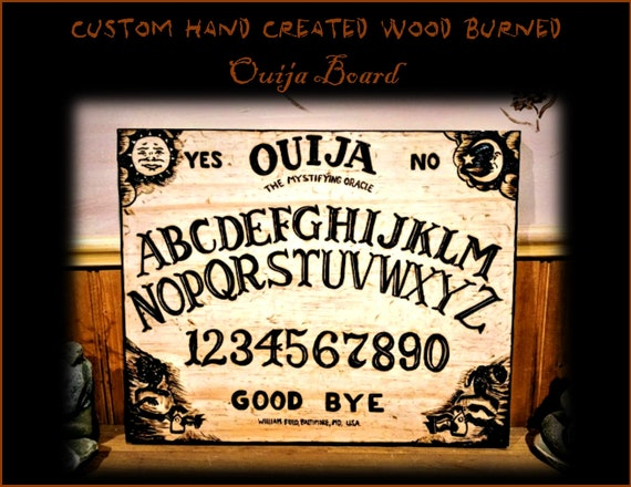 Ouija board - white witch - spirit board - Alter pentacle - wiccan alter - wand - pentacle - pentagram - pentagram necklace