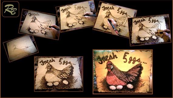 cool gifts,wood anniversary gift idead,wife gift,chicken art,Chicken Lover,Fresh Eggs sign,fresh eggs,Chicken coop,mother gift,kitchen decor