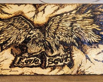 scout eagle - eagle scout gift  - troop master gift - troop leader retirement gift - hiking stick  eagle  - scout gift - troop leader gift