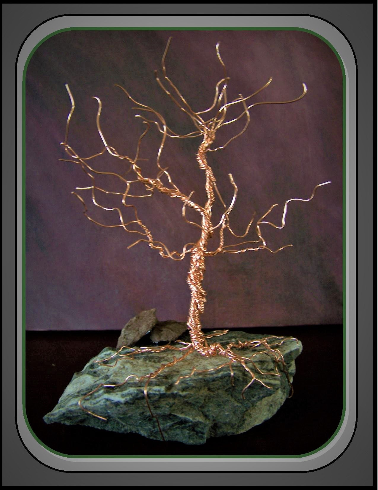 wire trees - tree lovers gift - birthstone tree - family tree ...