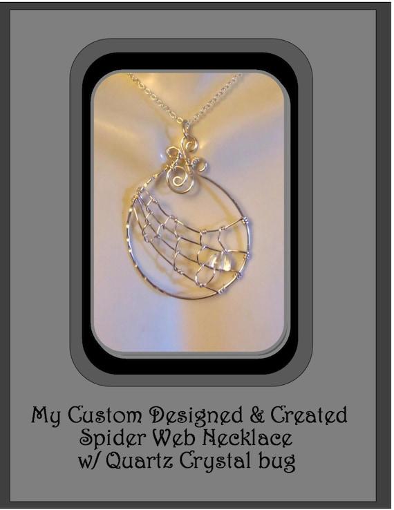 spider web jewelry, gothic jewelry, spider jewelry,  biker jewelry, orb weaver, spider web necklace,  spider necklace, webs
