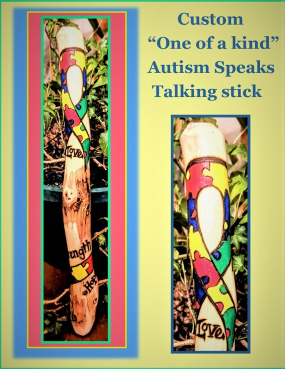 Autism speaks, Communication, Autism awarness day,  talking stick ,group talk