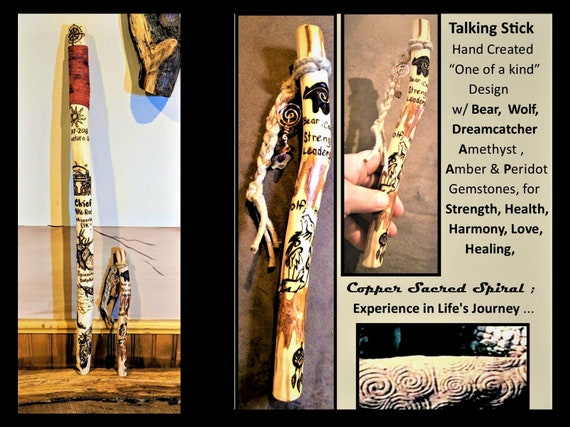 talk - talking stick - group talk - communication - hiking stick - walking stick - cane