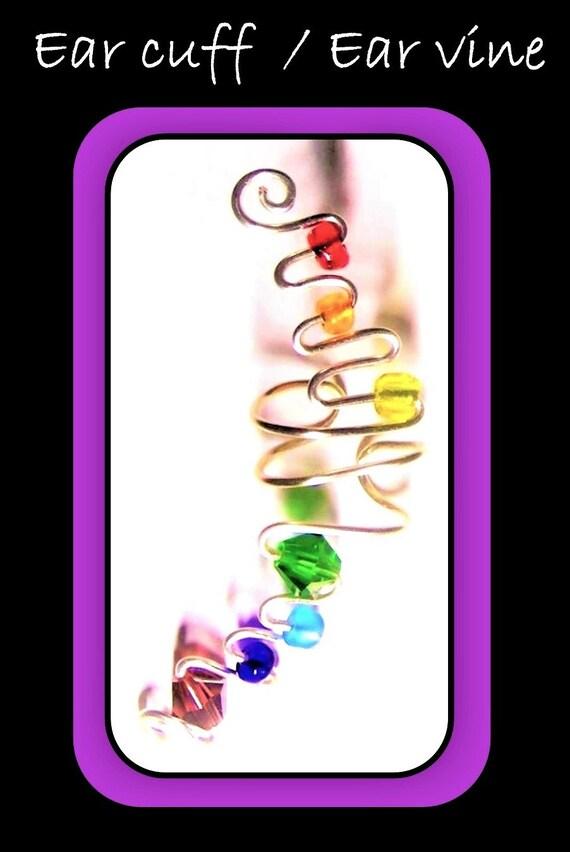ear cuff, pride, earrings, girlfriend gift, necklace, lgbtq   jewelry, lgbt, rainbow, love is love