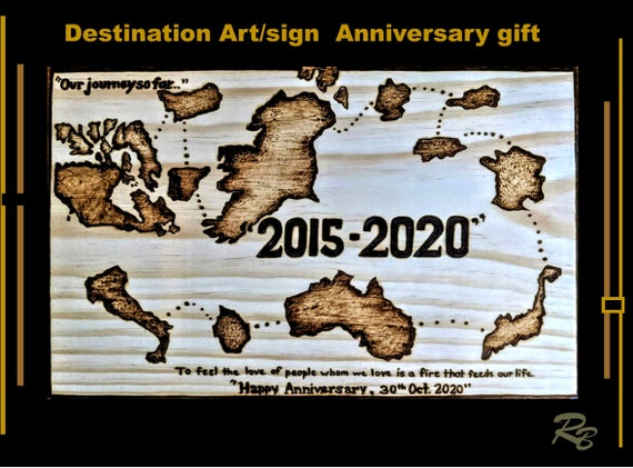 Destination signs, wood, anniversary, gift, five year, sign,  5th anniversary gift,wife gift