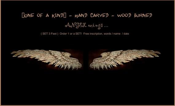wood burned, Angel wings, wood gift, wing,set, One winged Angel, gift, loss, prayer, spiritual gifts, Custom Wall Art