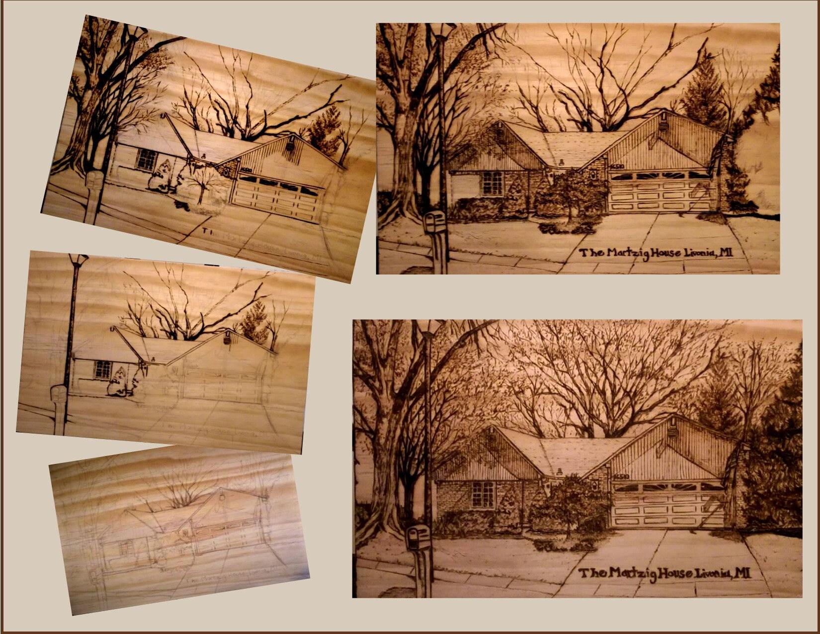 house portrait retirement gift husband gift office gift boss