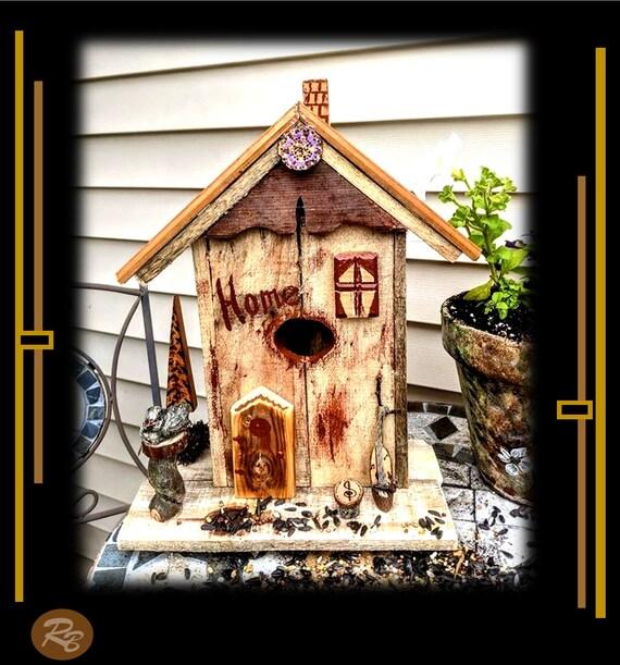 Custom,Rustic, Bird house, Fairy bird house, cool bird houses,Bird houses,,bird lovers,Unique bird houses,