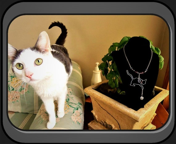 cat lovers gift,,CATS, cat necklace, cat jewelry,Grandmother gift,