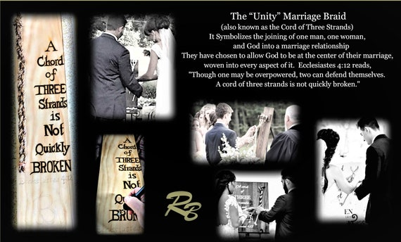 Wedding ceremoy, LOVE is Gods gift, Gods Knot, Love, Unity Ceremony, chord of Three stands is Not quickly broken,three strand braid