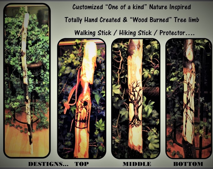 hikers gift - husband gift - father gift - hiking stick - walking stick - Retirement gift - Anniversary gift - hiker, hiking