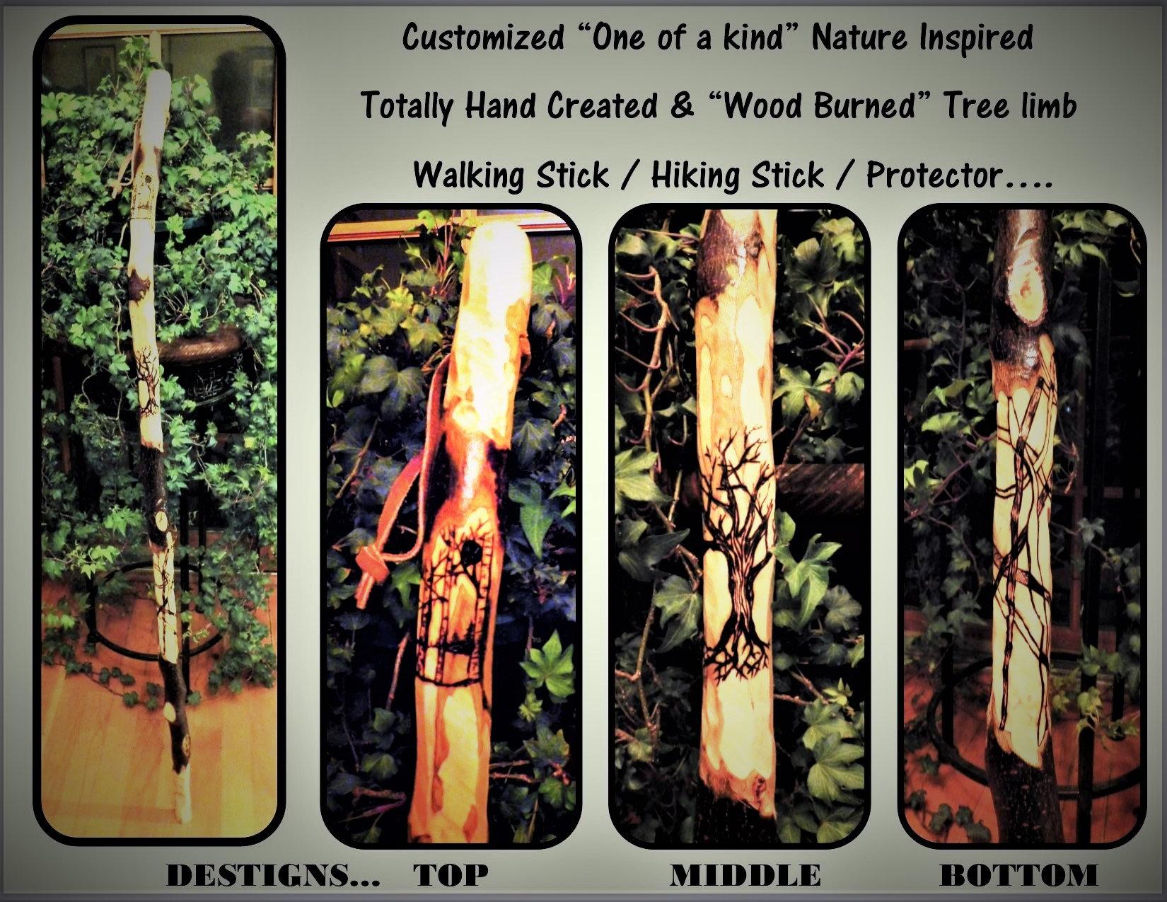 hiking stick - Christmas - Christmas gift idea.wood hiking stick ...