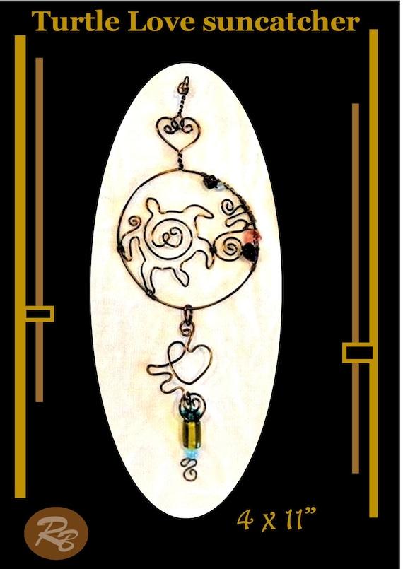 Turtle, Love, Sun catcher,Mother, gift, Grandmother, window,Suncatcher,  hanging,  garden,decorations,gemstones,accessories