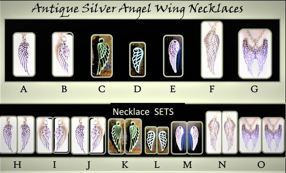 couples jewelry, necklace sets, couples gift,angel wing necklace,wings, girlfriend gift, couples jewelrywife gift,daughter,sister gift