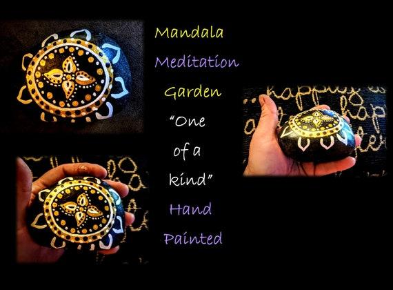 mandala,rock, zen, gift, love, life, Buddha, healing , meditation, hand painted, healing