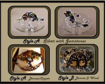 Wood,tree of life jewelry,cuff bracelets, healing jewelry, bangle bracelets, nature jewelry,zen jewelry, wicca jewelry, artistic jewelry