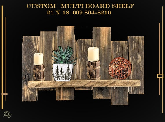 wood shelf,  multi board, wall shelf,husband gift,wife gift,Rustic Decor,Tree decor,Cabin decor