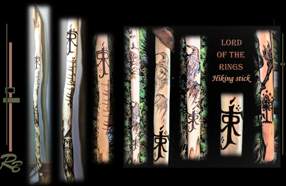 Gandalf, Lord of the rings - gift - Gandalf gift,  geek gift, techie gift, hiking stick,  hikers gift ,  husband gift - father gift - hiking
