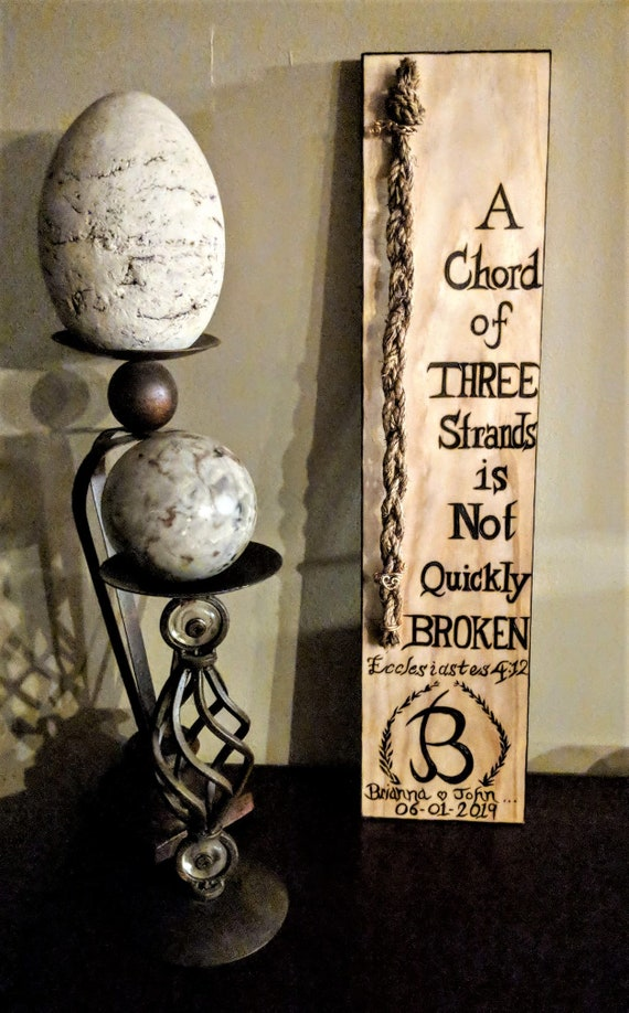 Lgbtq gift, couples, anniversary gift,  A chord of Three stands is not easily broken,  Ecclesiastes 4:12, Wife gift, Husband, Gods Knot