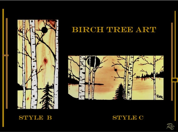 Birch tree,  birch trees - Cabin Decor - Lodge Decor - Rustic decor,