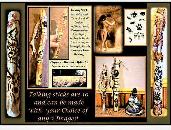 Talking stick - classroom, tribal talking stick - Free shipping, communication - group talk - artistic creations by rose