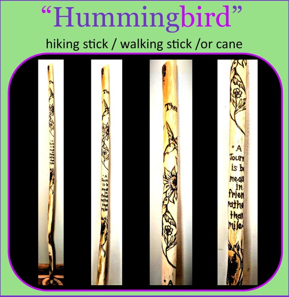 hummingbird, gift, mother gift, wife gift, hiking stick, walking stick, Hummingbird gifts ,Sun catcher,garden, garden decoration, flower pot
