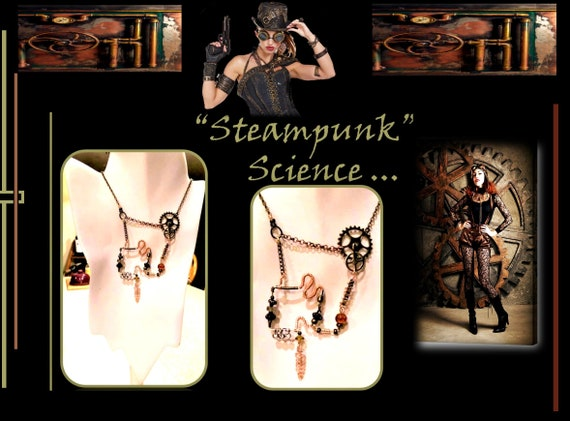 Steampunk Jewelry, Steampunk,fashion, Necklace,Cosplay,Steam punk, Steampunk, pendants,Steam punk, Sci Fi, jewelry,comicon