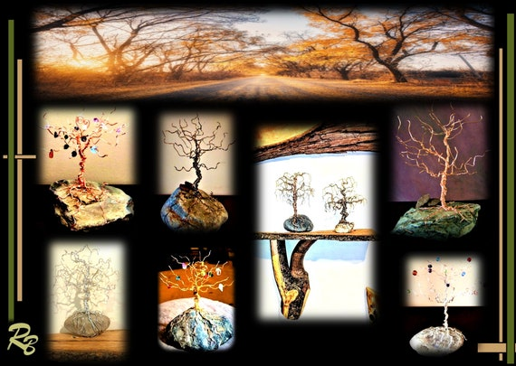 wire trees, tree art