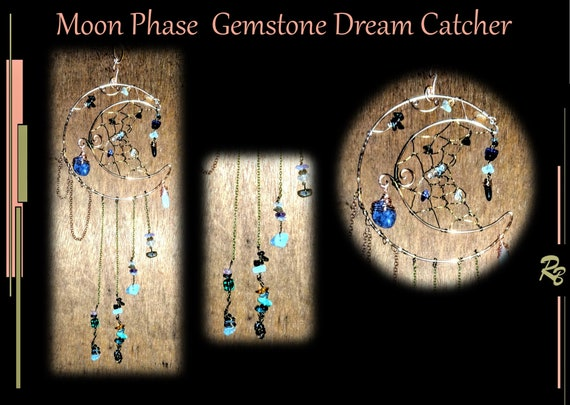 Suncatcher,  Moon,  mystical, gemstone,  mother gift, window, art, garden, decoration,  dream catcher - sun catchers -Moon,  Gemstone,