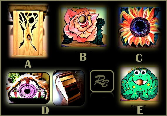 Custom, bird houses , garden, decorations, mother, giftSunflower, sun flower, ,grandmother ,Frog,hobbit house,