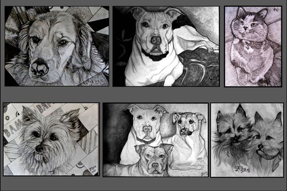 Art,pet portrait, pet lovers gift,Memorial,Pet Memorial portrait, Rainbow Bridge,wife gift,mother gift,grandmother gift,husband gift,father