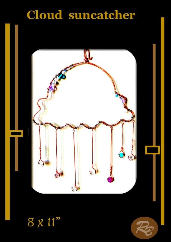 cloud,  Sun catcher,Mother, gift, Grandmother, window,Suncatcher,  hanging,  garden,decorations,gemstones,accessories