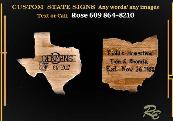 state sign, custom signs, house number, wood anniversary gift