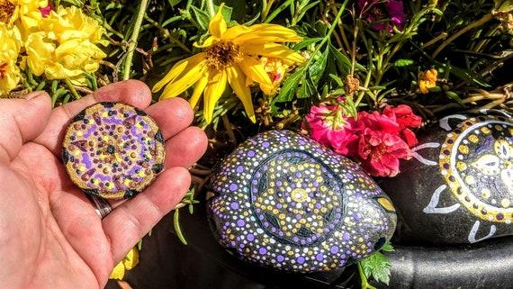 mandala,rocks, zen gift, pendant, necklace, hand painted, healing, gift, love, life, Buddha, healing , meditation,
