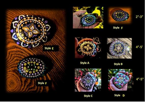 mandala, zen, healer, gift, rock, gift, love, life, Buddha, healing , meditation, hand painted, healing