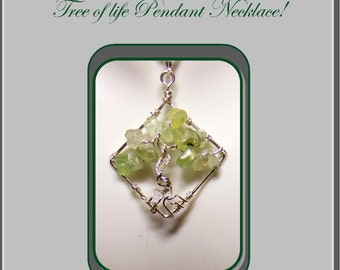 Peridot,August birthstone jewelry,tree of life jewelry,birthstone jewelry,healing jewelry,Artistic Creations by Rose