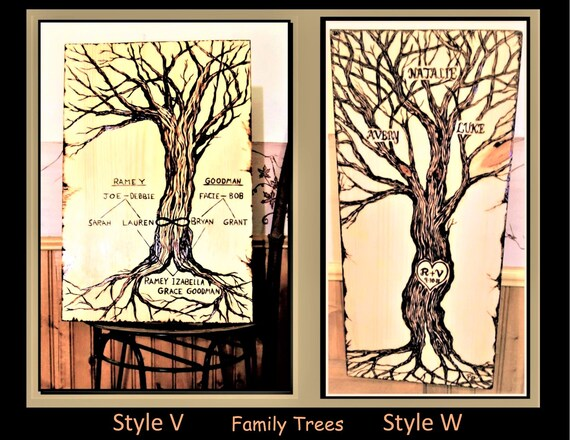 family tree, mother gift, rustic, trees,wood anniversary gift, ,Couple gift,Wood Anniversary ,lyric art,5 yth Anniversary gift