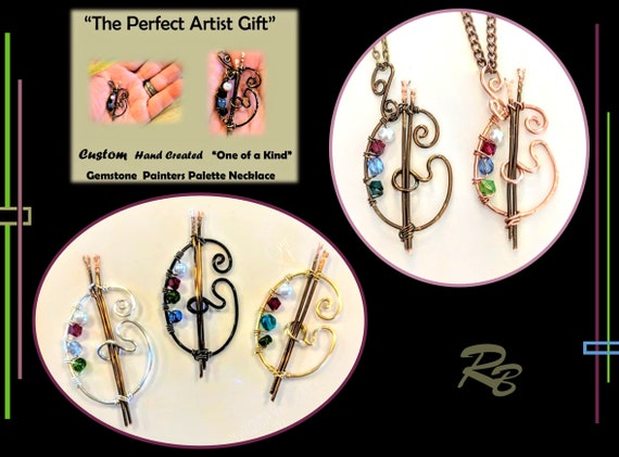 Artist gift,Paint palette jewelry,paint palette,painter gift,Art lovers gift