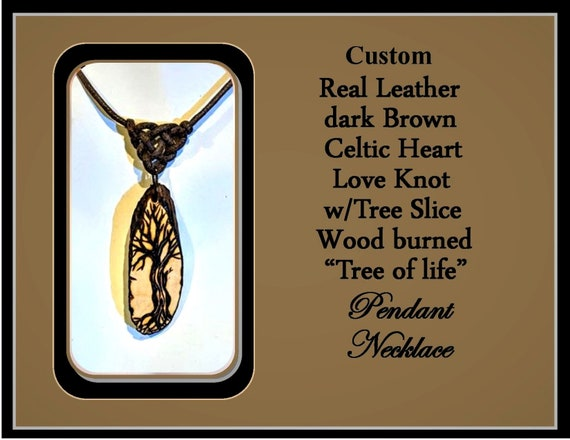Celtic love knot, Celtic, Tree of Life jewelry, wife gift, girlfriend gift, bohemian, Nature lovers, jewelry, wood burned, ZEN ,tree, nature