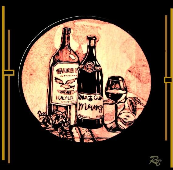 wine,husband gift, wife gift, hostess gift, wine decor, wine art, gift, wine, grapes, art, wine, grapes, kitchen art