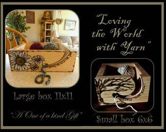 Yarn holder - Yarn Bowl - mother gift -  grandmother gift - crochet ideas -  wife gift - daughter gift -Yarn - knitters gift,Crochet gift i