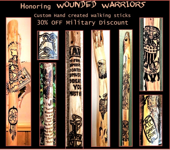 Military Discount, wounded Warriors, Disabled Veteran,walking stick, Rehabilitation, walking help, cane
