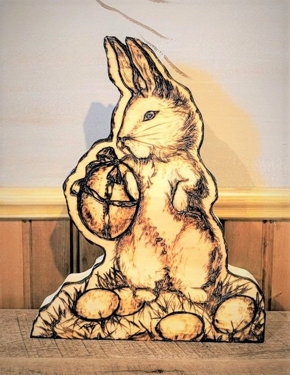 Easter Decoration - Easter bunny - wife gift - mother gift- easter gift - Easter table decoration - Rustic -