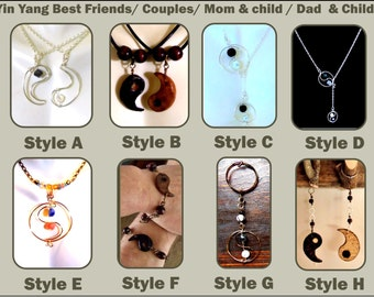 girlfriend gift - wift gift - Friend gift - mother gift - yin yang jewelry - yin yang,ying yang jewerly,lariat necklace,mother daughter
