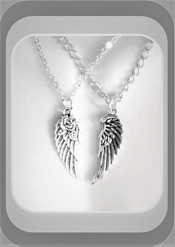 couples gift - wings - girlfriend gift -  angel wing necklace, couples jewelry,mens gifts,couples jewelrywife gift,daughter,sister gift